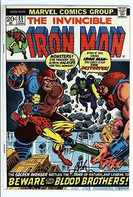 Iron Man #55 Vol 1 Near Perfect High Grade 1st Appearance of Thanos