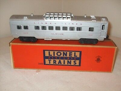 Lionel Illuminated Vista Dome Car No. 2432 Circa 1952 w/box