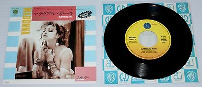 "Madonna - Material Girl - 1985 Japan 7"" Single - Sire P-1943 - Japanese"