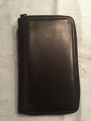 Hartmann Passport Credit Card Wallet With Ziparound - Black Genuine Leather