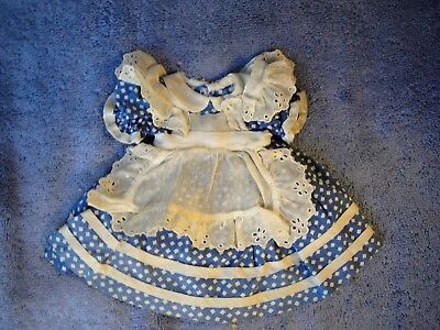 "Vintage 1949 Alexander 14"" ALICE IN WONDERLAND Doll Original Outfit DRESS EC"