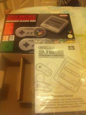 Packaging from SNES Mini Nintendo. Box + Manual Only. No Console.