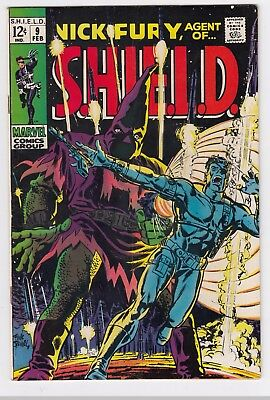 NICK FURY of SHIELD #9 (1969)  HIGH GRADE   HATE MONGER!!!