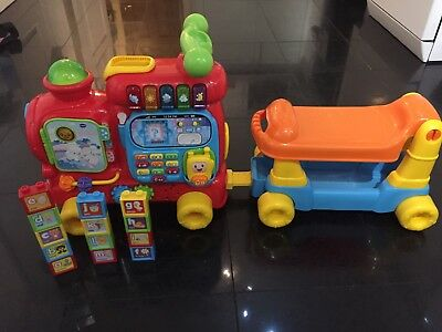 VTech Baby Push And Ride On Walker Push Along Alphabet Train Toy.Great condition