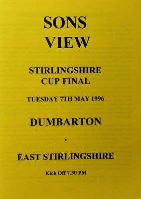 Dumbarton v East Stirlingshire 07.05.96 Stirlingshire Cup Final