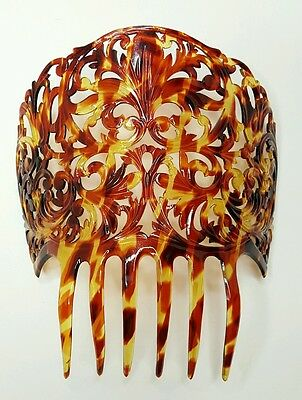 Victorian Faux Tortoise Shell Celluloid Hair Comb