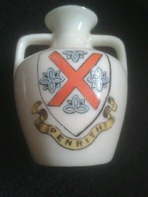 W&R Stoke on Trent Carlton China Penrith crested China jug