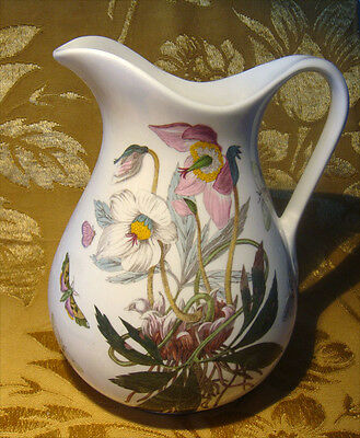 Portmeirion *botanic Garden - Christmas Rose* 56 Oz Ewer Pitcher Made In England