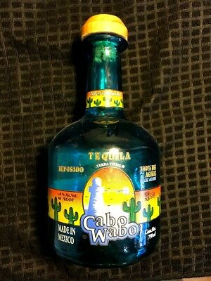 Cabo Wabo Tequila Blue Bottle Emtpy Cork Reposado Agave 750ML 2000 -2003