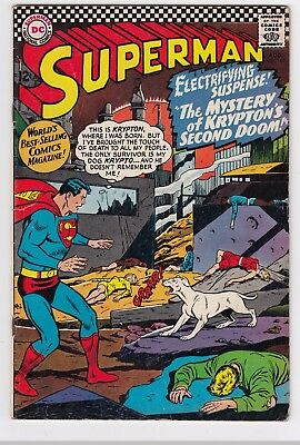 SUPERMAN #189 (1966)  LOW to MID GRADE   KRYPTO!!!    WAYNE BORING art