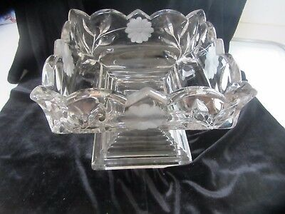 Antique crystal compote/ fruit bowl