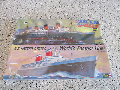 S.S. United States & Queen Mary Ocean Liners, Revell, 2 kits, NIB sealed