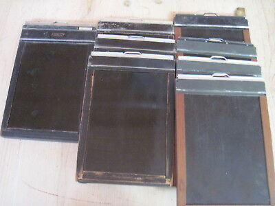 Mixed Lot of (8) 5x7 Large Format Film Holders - Folmer Kodak Fidelity