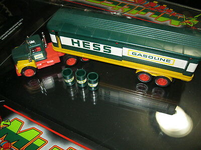 Very nice example of a Vintage 1976 Hess barrel truck with 3 barrels