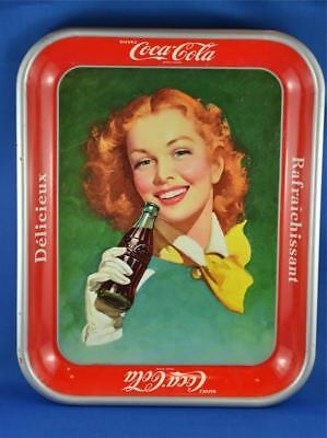 Vintage Coca-Cola Tray. Advertising For Coke. French Buvez Delicious Refreshing