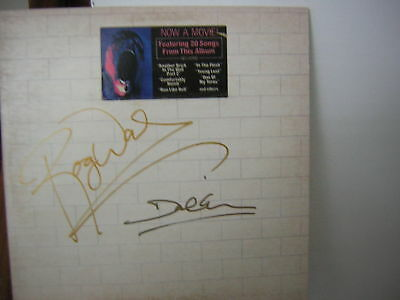 Pink Floyd Signed Lp The Wall 1979 Gilmour Waters W/hype Sticker