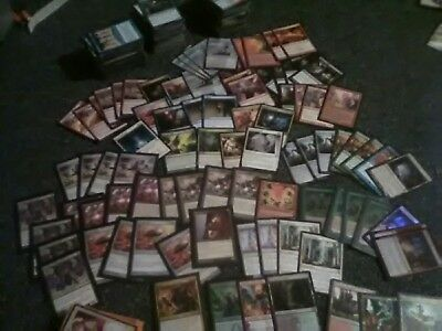 Magic MTG small collection deck, shock lands, MORE! Uncommons rares mostly