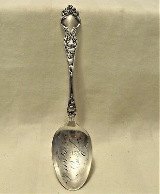 Wallace & Son 1904 Violet Pattern Sterling Silver Kansas City Collector Teaspoon
