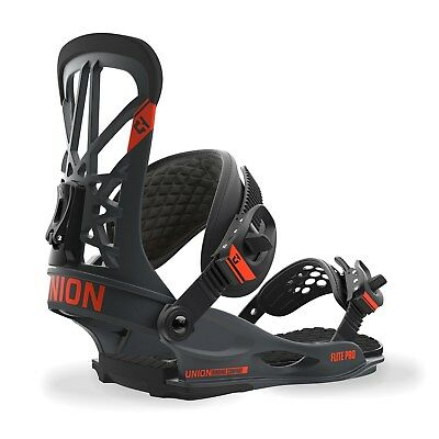 2018 Union Flight Pro Dark Gray Snowboard Binding Size Medium