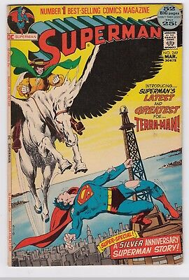SUPERMAN #249 (1972)  LOW to MID GRADE    1st. App TERRA-MAN   NEAL ADAMS cover