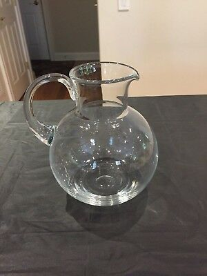 "TIFFANY & CO SIGN CRYSTAL PITCHER ( 9"" tall )"
