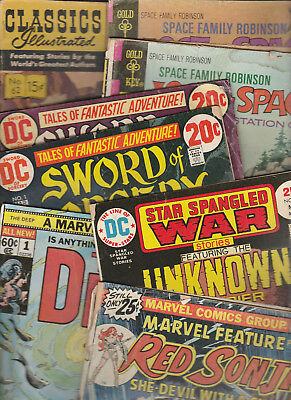 COMICS Readers lot of 8 Lost in Space RED SONJA Sword of Sorcery UNKNOWN SOLDIER