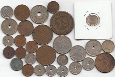 BU 1920 10 Ore and 25+ Assorted Norwegian Coins...99 cents opening...NR!