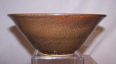"""North Carolina Art Pottery by Off the Wall Bowl Chili Soup Signed 8.5"""" Diameter"""