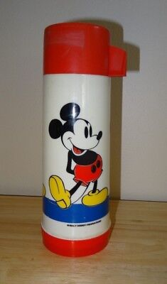 1960 1970 Aladdin WALT DISNEY MICKEY MOUSE Thermos - Insulated One Pint Size