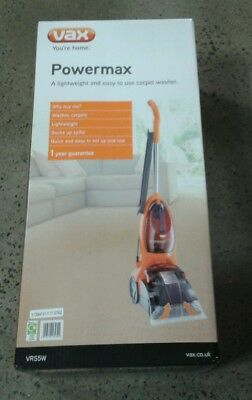 Vax lightweight VRS5W upright power max carpet cleaner RRP £119, never used