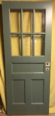 Unique Antique Craftsman Wood Exterior Door /w Glass 32x80 3 Pane