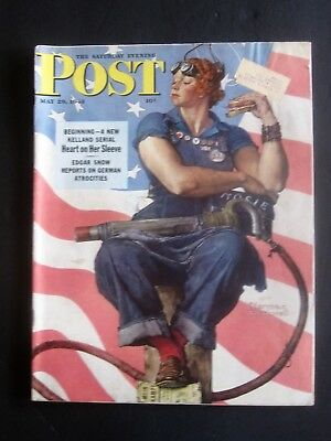 Rosie the Riveter, Post magazine Cover by NORMAN ROCKWELL, Original 1943