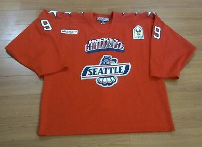 Seattle Thunderbirds Team Issued #99 Game Style Fight Strap Hockey Jersey RED