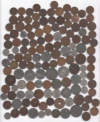 Lot of 100+ Coins of the Netherlands (late 1800's-1970's)...99 cents...NR!