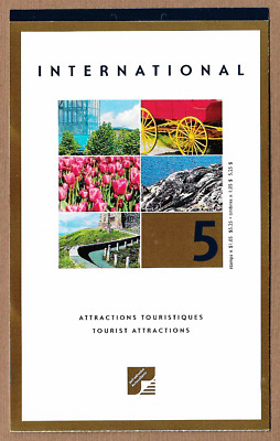 Canada Stamps — Booklet Pane of 5 — Tourist Attractions #1904 (BK244) — MNH