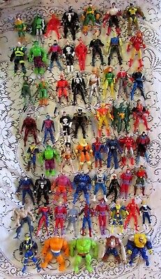 Large 1990's Marvel Action Figure Lot of 60 Banshee, Forge, Magneto, Wolverine