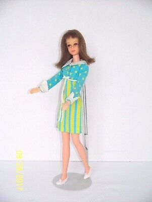 Vintage Barbie Early Version Non TNT Francie Doll Wearing #1251 It's A Date