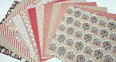 Stampin' Up! RETIRED DESIGNER SERIES PAPER, CHRISTMAS/ CANDY CANE LANE  RARE