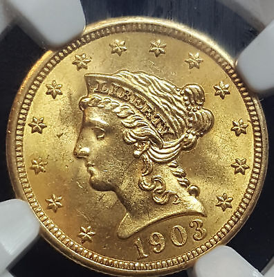 1903 USA $2.50 Gold Liberty MS 64 NGC Blazing Lustrous Coin