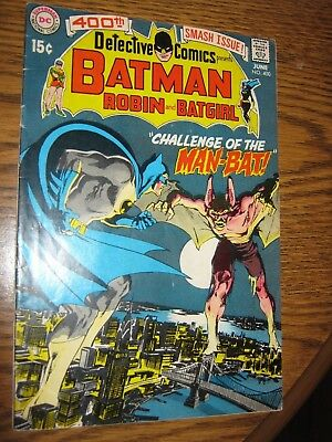 Detective Comics #400 (Jun 1970, DC) 1st Appearance & Origin of Man-Bat 4.5