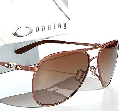 NEW* Oakley DAISY CHAIN Aviator Pearl Metallic w Brown Women's Sunglass 4062-13