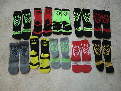 Youth Boy's boys Under Armour      10 PAIRS     of socks size YLG youth Large