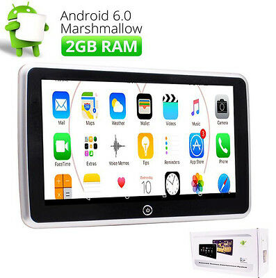 4CORE Android 6.0 Car Rear-seat Headrest Monitor 2GB RAM Multi-touch Screen WIFI