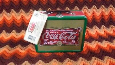 Coca-Cola Retro Look Tin Lunch Box With Tag