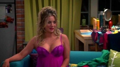 The Big Bang Theory Kaley Cuoco Penny Screen Worn Pink Purple Lace Lingerie 34C