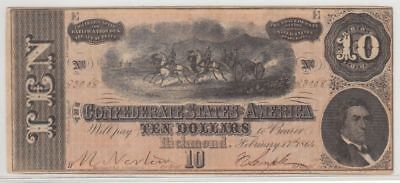 T-68 (2/17/1864) CSA $10...Lovely XF...99 cents opening...NR!