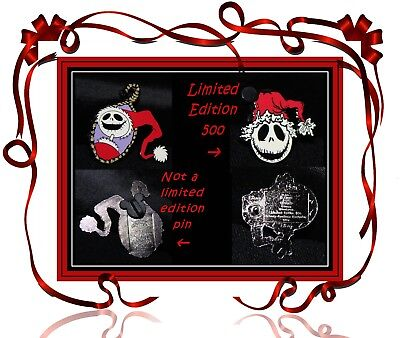 Lot of 2 Pins Nightmare Before Christmas Disney Pin LE 500 Jack sandy claws