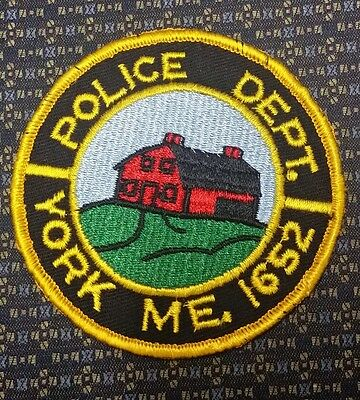Vintage York, Maine Police Department Shoulder Patch Me