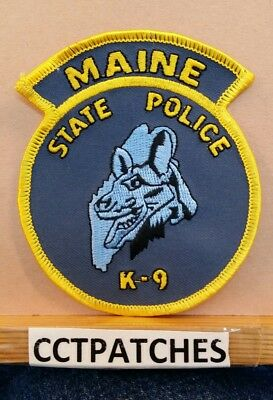Maine State Police K-9 Shoulder Patch Me