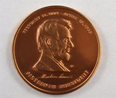 ABRAHAM LINCOLN 16th PRESIDENT COMMEMORATIVE HONOR MEDAL LINCOLN MEMORIAL COIN.